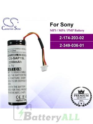 CS-SAP1SL For Sony Mp3 Mp4 PMP Battery Model 2-174-203-02 / 2-349-036-01