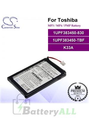CS-TS001SL For Toshiba Mp3 Mp4 PMP Battery Model 1UPF383450-830 / 1UPF383450-TBF / K33A