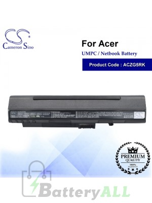 CS-ACZG5RK For Acer UMPC Netbook Battery Model 2006DJ2341 / 4104A-AR58XB63 / AR5BXB63 / BT00307005826024212500 / C-5448