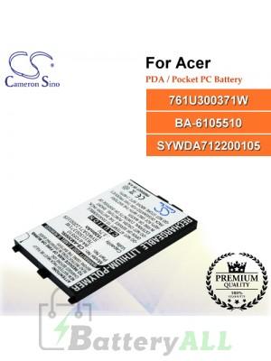 CS-AM300SL For Acer PDA / Pocket PC Battery Model 761U300371W / BA-6105510 / SYWDA712200105