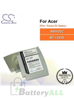 CS-N20SL For Acer PDA / Pocket PC Battery Model 865Y032 / BT-12416