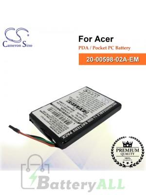 CS-N30SL For Acer PDA / Pocket PC Battery Model 20-00598-02A-EM