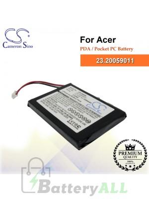 CS-S60SL For Acer PDA / Pocket PC Battery Model 23.20059011