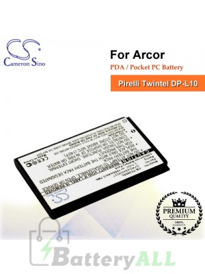 CS-TC300SL For Arcor PDA / Pocket PC Battery Fit Model Pirelli Twintel DP-L10
