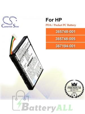 CS-RZ1700SL For HP PDA / Pocket PC Battery Model 365748-001 / 365748-005 / 367194-001