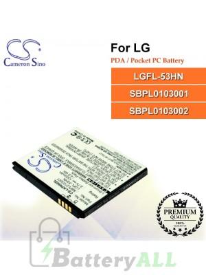 CS-LKP990SL For LG PDA / Pocket PC Battery Model LGFL-53HN / SBPL0103001 / SBPL0103002