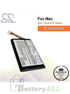 CS-P300SL For NEC PDA / Pocket PC Battery Model 07-016006345