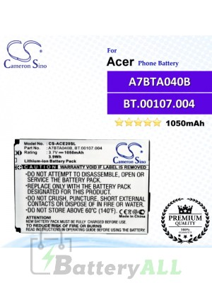 CS-ACE20SL For Acer Phone Battery Model A7BTA040B / BT.00107.004
