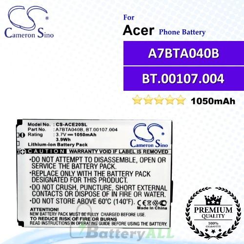 CS-ACE20SL For Acer Phone Battery Model A7BTA040B / BT.00107.004