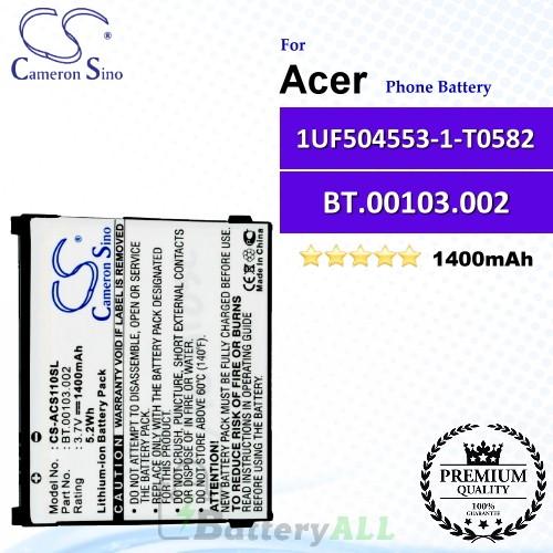 CS-ACS110SL For Acer Phone Battery Model BT.00103.002 / 1UF504553-1-T0582