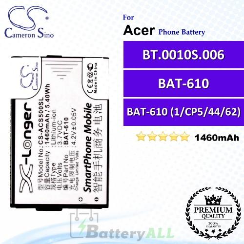 CS-ACS500SL For Acer Phone Battery Model BAT-610 / BAT-610 (1/CP5/44/62) / BT.0010S.006