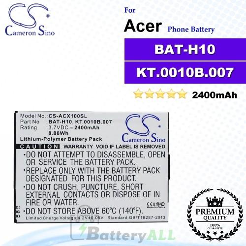 CS-ACX100SL For Acer Phone Battery Model BAT-H10 / KT.0010B.007