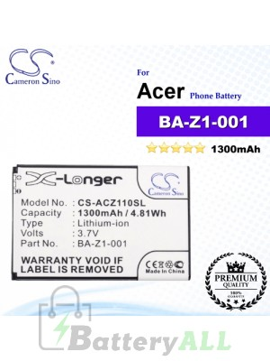 CS-ACZ110SL For Acer Phone Battery Model BA-Z1-001 / BA-Z1-003