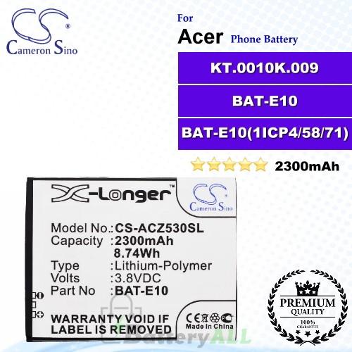 CS-ACZ530SL For Acer Phone Battery Model BAT-E10 / KT.0010K.009 / BAT-E10(1ICP4/58/71)