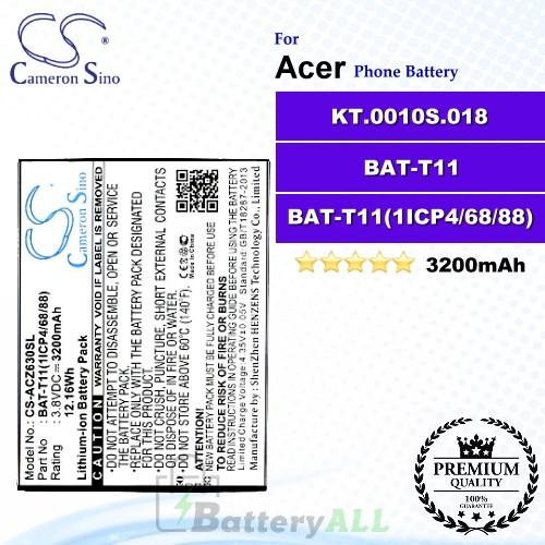 CS-ACZ630SL For Acer Phone Battery Model BAT-T11 / BAT-T11(1ICP4/68/88) / KT.0010S.018