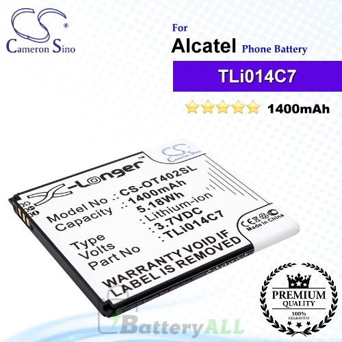 CS-OT402SL For Alcatel Phone Battery Model TLi014C7