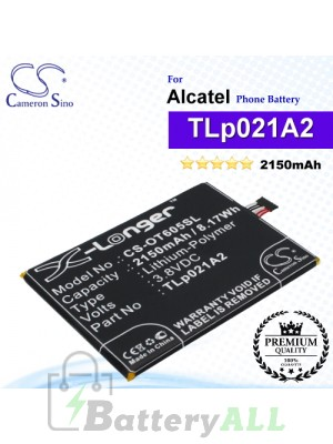 CS-OT605SL For Alcatel Phone Battery Model TLp021A2