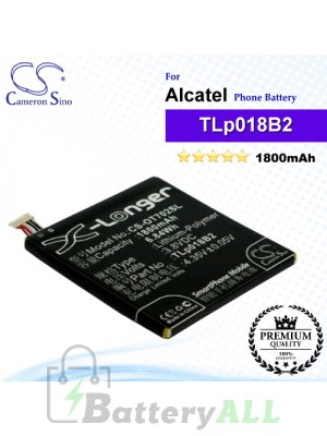 CS-OT702SL For Alcatel Phone Battery Model CAC1800008C2 / TLp018B1 / TLp018B2 / TLp018B4