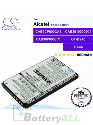 CS-OT800SL For Alcatel Phone Battery Model CAB20100000C1 / CAB30P0000C1 / CAB3CP000CA1