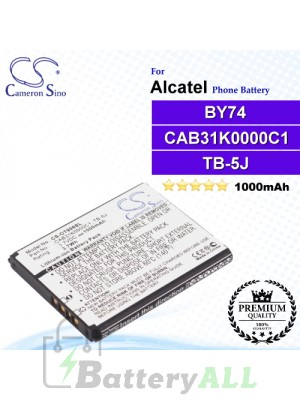 CS-OT906SL For Alcatel Phone Battery Model CAB31K0000C1 / TB-5J / BY74