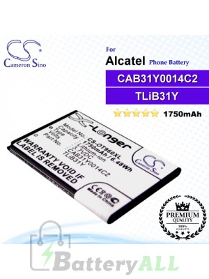 CS-OT960XL For Alcatel Phone Battery Model CAB31Y0008C2 / CAB31Y0014C2 / TLiB31Y