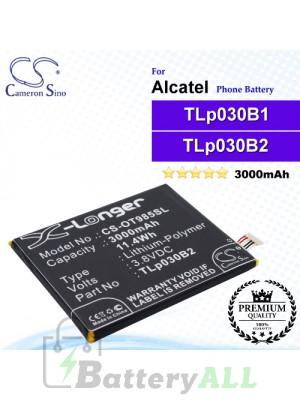 CS-OT985SL For Alcatel Phone Battery Model C3000003C1 / TLp030B1 / TLp030B2