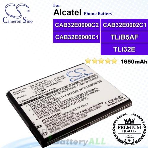 CS-OT997SL For Alcatel Phone Battery Model CAB32E0000C1 / CAB32E0002C1 / TLiB32E / TLiB5AF / CAB32E0000C2