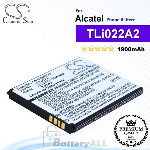 CS-OTA851SL For Alcatel Phone Battery Model TLi022A2