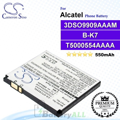 CS-OTC825SL For Alcatel Phone Battery Model B-K7 / T5000554AAAA / 3DSO9909AAAM