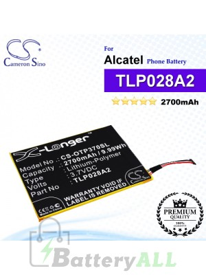 CS-OTP370SL For Alcatel Phone Battery Model TLP028A2