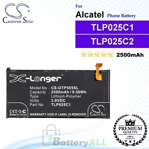 CS-OTP505SL For Alcatel Phone Battery Model TLP025C1 / TLP025C2