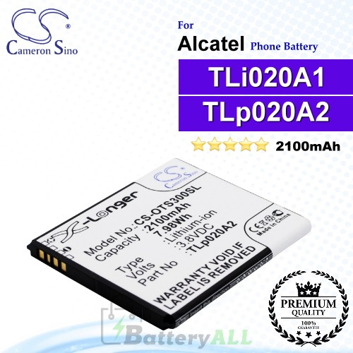 CS-OTS300SL For Alcatel Phone Battery Model TLp020A2 / TLi020A1