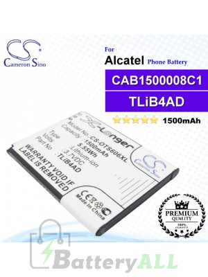 CS-OTS606XL For Alcatel Phone Battery Model TLiB4AD / CAB1500008C1