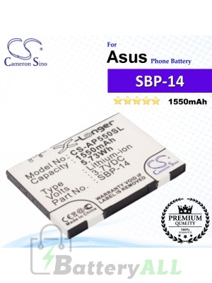 CS-AP550SL For Asus Phone Battery Model SBP-14