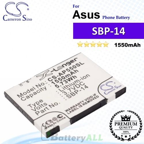 CS-AP550SL For Asus Phone Battery Model SBP-14