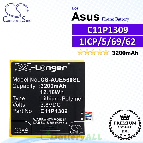 CS-AUE560SL For Asus Phone Battery Model C11P1309 / C11P1309(1ICP/5/69/62)