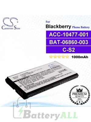 CS-BR8700SL For Blackberry Phone Battery Model ACC-10477-001 / BAT-06860-003 / C-S2