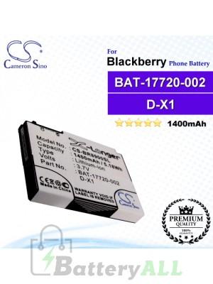 CS-BR8900SL For Blackberry Phone Battery Model BAT-17720-002 / D-X1