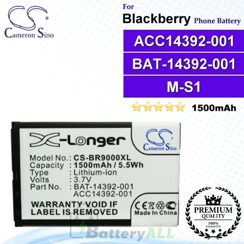 CS-BR9000XL For Blackberry Phone Battery Model ACC14392-001 / BAT-14392-001 / M-S1