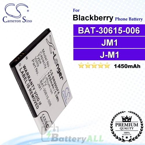 CS-BR9900FX For Blackberry Phone Battery Model BAT-30615-006 / JM1 / J-M1