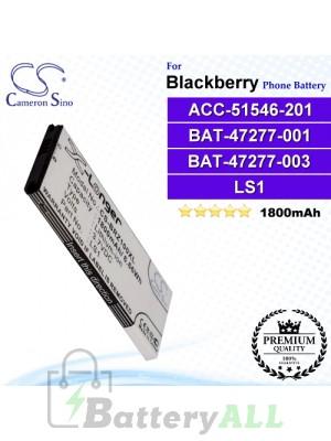 CS-BRZ100XL For Blackberry Phone Battery Model ACC-51546-201 / BAT-47277-001 / BAT-47277-003 / LS1