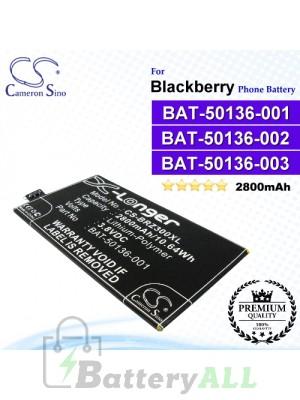 CS-BRZ300XL For Blackberry Phone Battery Model BAT-50136-001 / BAT-50136-002 / BAT-50136-003 / BAT-50136-101 / CUWV1 / STR100-2