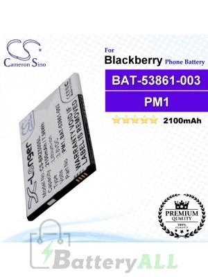 CS-BRZ500SL For Blackberry Phone Battery Model BAT-53861-003 / PM1