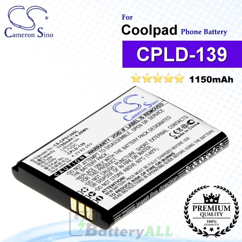 CS-CPD139SL For Coolpad Phone Battery Model CPLD-139