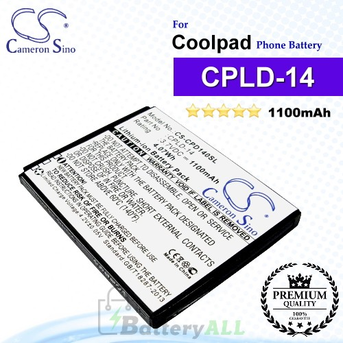 CS-CPD140SL For Coolpad Phone Battery Model CPLD-14