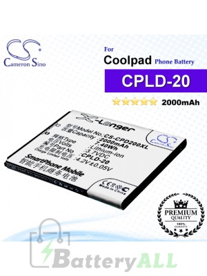 CS-CPD200XL For Coolpad Phone Battery Model CPLD-20