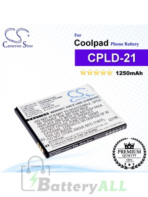 CS-CPD210SL For Coolpad Phone Battery Model CPLD-21