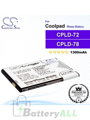 CS-CPD585XL For Coolpad Phone Battery Model CPLD-72 / CPLD-78