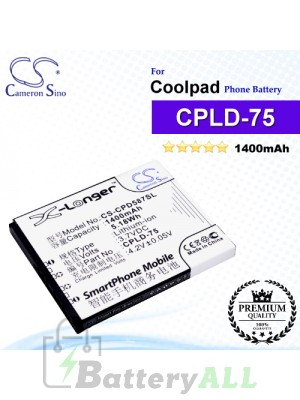 CS-CPD587SL For Coolpad Phone Battery Model CPLD-75