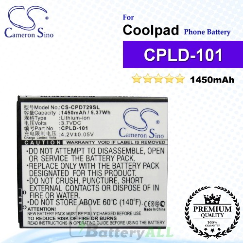 CS-CPD729SL For Coolpad Phone Battery Model CPLD-101